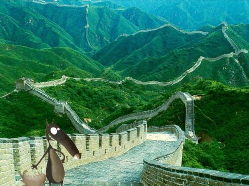 Ptit loup en Chine