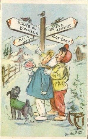 Cartes anciennes de Germaine Bouret: