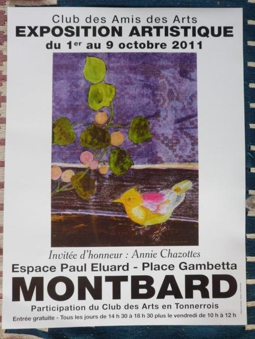 Une très belle exposition à voir à Montbard...
