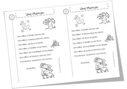 Poèmes Sur Les Mamans Pour La Fête Des Mères Mitsouko Au Cp