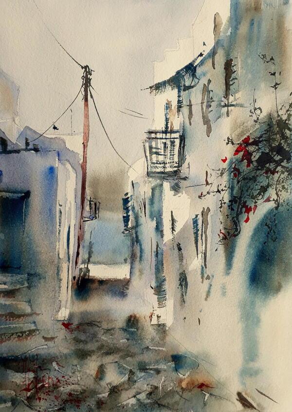 Aquarelles de : Jean Luc Decron