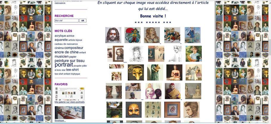 Galerie de Portraits / Portrait Gallery, poupée-portrait...Artblog