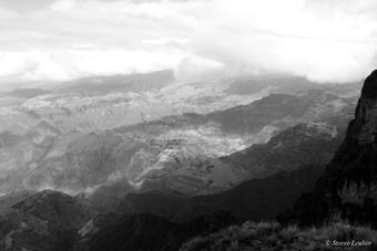 Le massif du Simien en N&B