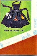 Barbie vintage : Apron and Ustensils - What's Cookin