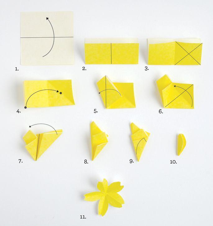 Fleurs de cerisier en origami