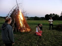 le feu à l'écohameau