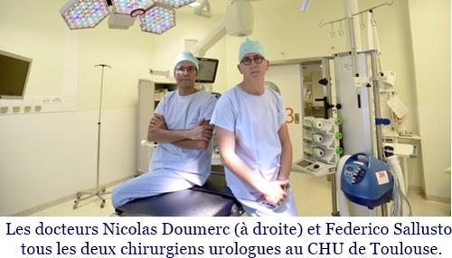Chirurgie robotique d'un rein