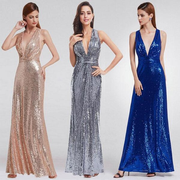 robes de bal longues en sequin