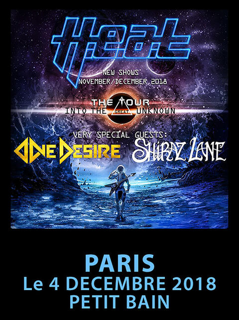 H.E.A.T + ONE DESIRE + SHIRAZ LANE - Paris - 04/12/2018