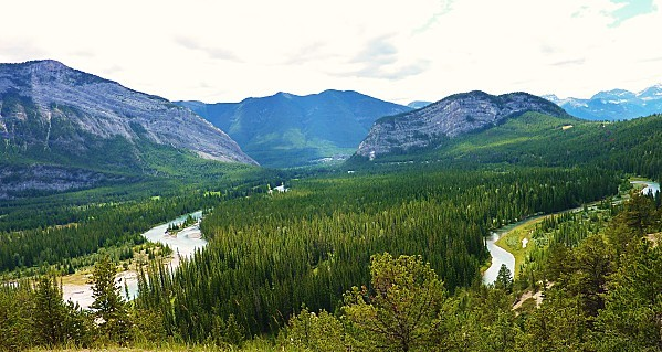 Jour 16 Banff vue sur rivière Bow