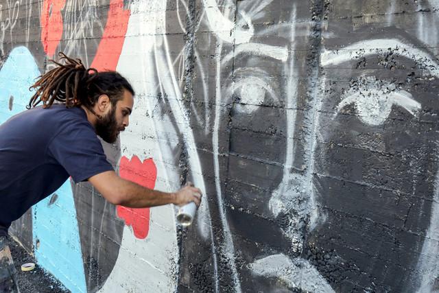 Suhaib Attar, étudiant et street artiste, à Amman, Jordanie (16 décembre 2017)