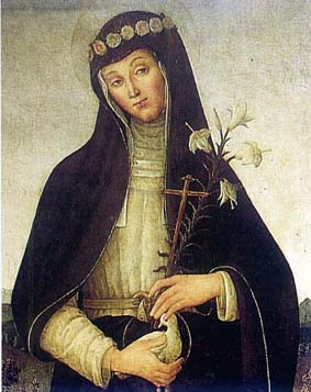 Bienheureuse Colombe de Rieti. Religieuse du Tiers-Ordre de Saint Dominique († 1501)