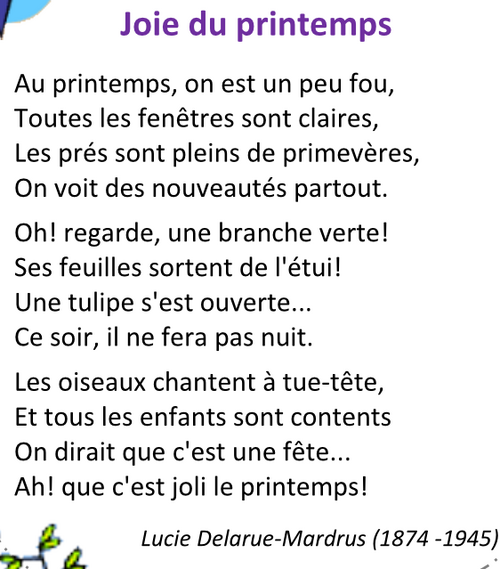 Printemps par Lucie D.-M.