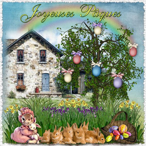 Cartes p ques page 2 mcreations - Mon petit lapin s est sauve dans le jardin ...