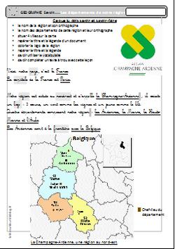 Savoir: connaître sa région- Champagne-Ardenne, les départements