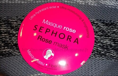 Masque en tissu à la rose de Sephora