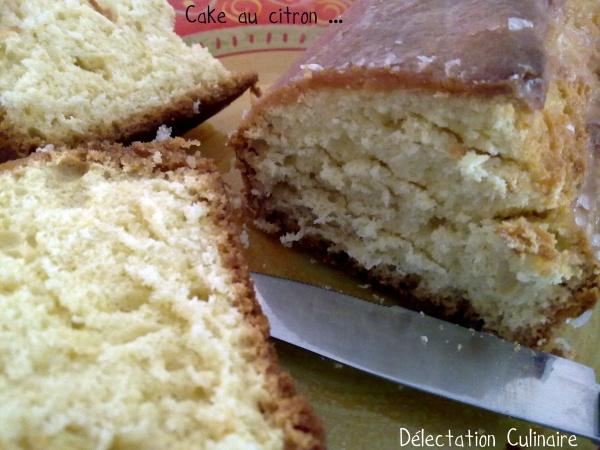 Ronde Interblog #19, 1ère participation ; Le Cake au citron ...