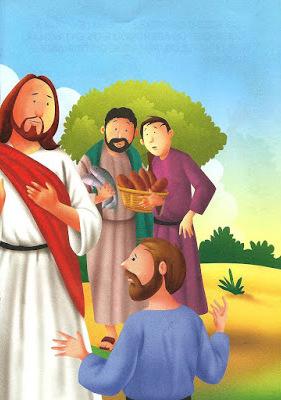 Jesus e a multiplicação de pães e peixes