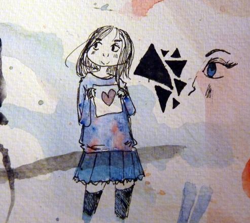 Book marker & watercolor