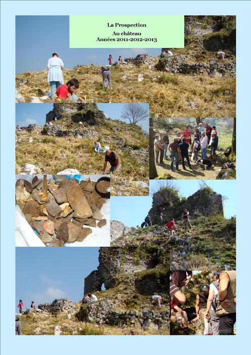 """2012 - 2013  - Opérations Château : """"Débroussaillage et Prospections"""