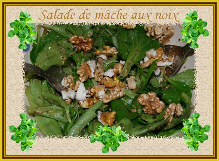 Recette de Cuisine : Salade de Mâche aux Noix