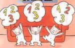 1,2,3 petits chats qui savaient compter jusqu'à 3 de Michel Van Zeveren