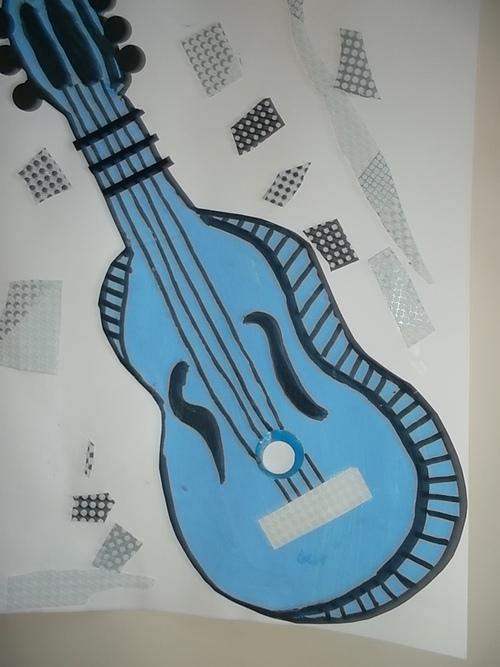 La guitare à la manière de Picasso
