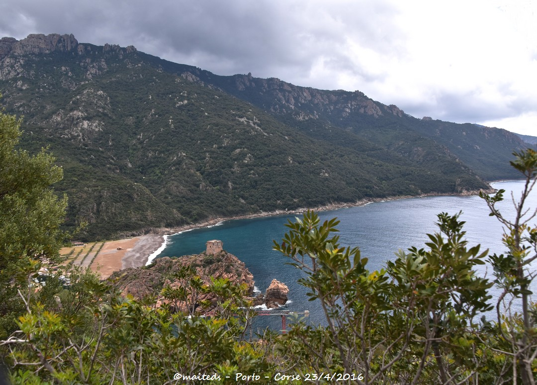Point de vue sur Porto - Corse