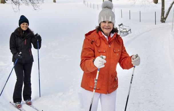 Ski de fond dans le parc de Drottningholm - Suède