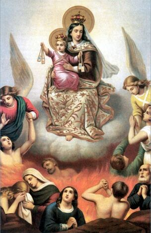 Prière pour les défunts : Chapelet des âmes du purgatoire en l'honneur des vertus de Notre-Dame