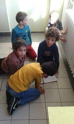 Le travail de groupe des élèves de CE1 B