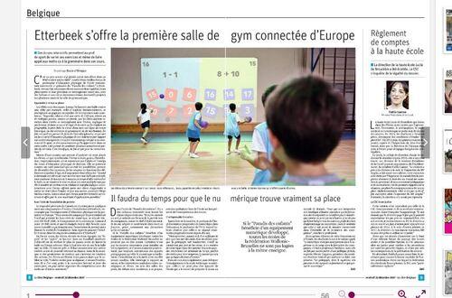 [Ecole] La salle de gym connectée... On en parle dans la presse