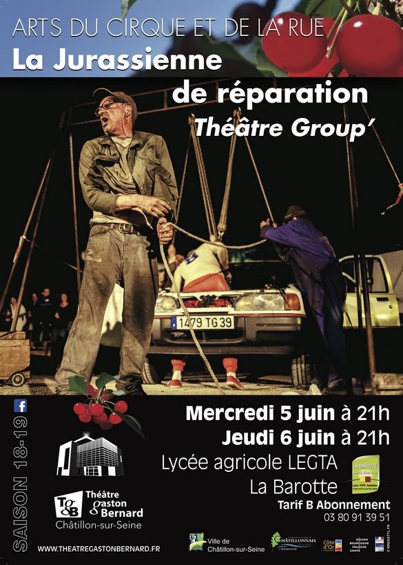 """Dernier spectacle de la saison pour le Théâtre Gaston Bernard de Châtillon sur Seine  : """"La Jurassienne de Réparation"""""""