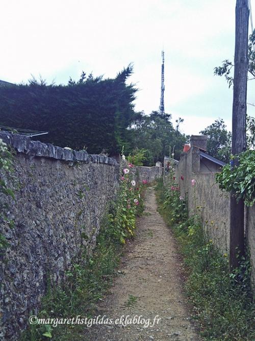 Poitiers : chemin dans la ville - Poitiers : lane in the town