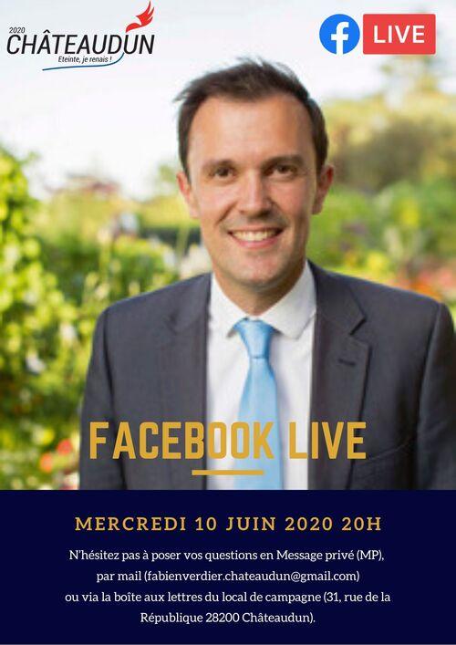 Facebook Live - Mercredi 10 juin 2020 à 20h