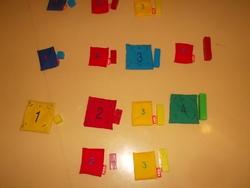 Quantité, couleur et topologie chez les moyens