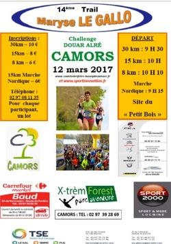 Trail Maryse LE GALLO - Dimanche 12 mars 2017