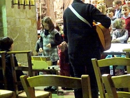 Le Concert de l'Epiphanie par les élèves de l'école Saint Bernard de Châtillon sur Seine...