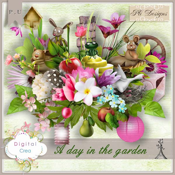 """A day in the garden"" by Pli Designs"
