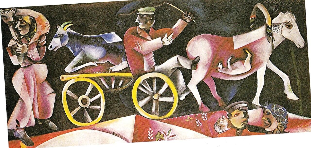 Chagall 4 / 1912 : le mal du pays ...