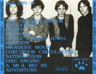 Le Choix des Lecteurs # 136 : Television - Last live in Portland - 1978