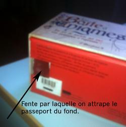 Boite pour les passeports de classe