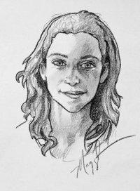 Illustration des personnages des Loups de Mercy Falls par l'auteur