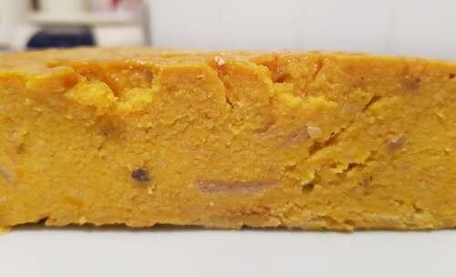 GÂTEAU-pudding fondant de pain à la purée de courge, lait d'amande, œuf & Xylitol (sans sucre ajouté)