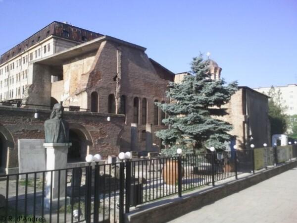 Bucarest,ruines de Curtea Veche, la cour royale au Moyen Age