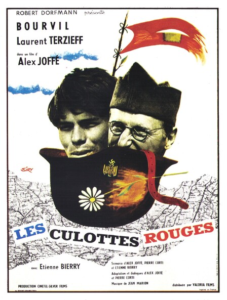 LES CULOTTES ROUGES - BOX OFFICE BOURVIL 1962