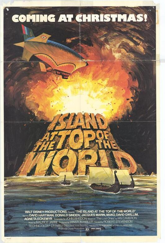 THE ISLAND AT THE TOP OF THE WORLD BOX OFFICE USA 1974