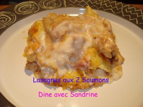 Des Lasagnes aux Deux Saumons