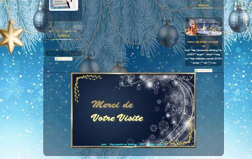 Kit Noël bleu or
