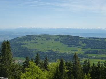Vue du sommet - Panorama à 360° - Les Alpes